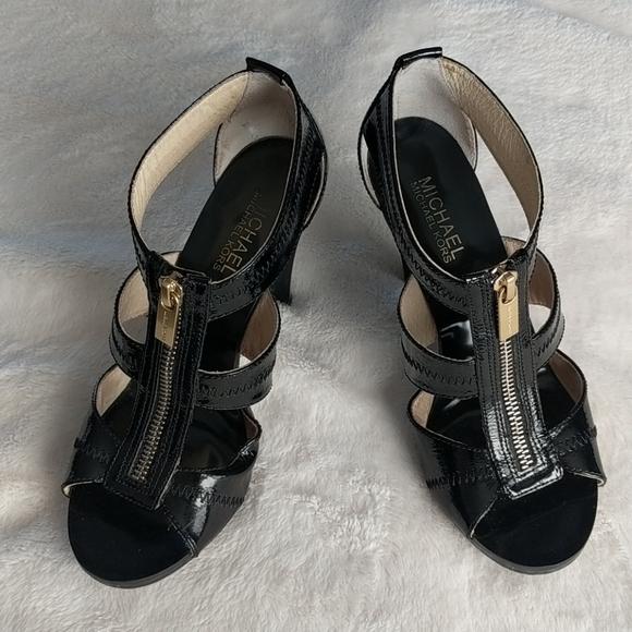 Michael Kors Black Zipper Heels